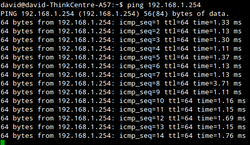 Using Ping Command to test connection
